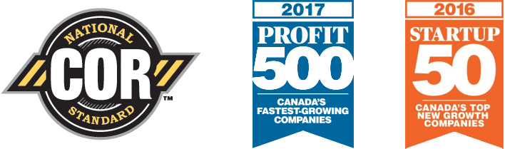 COR National Standard and Canada's fastest growing companies Bronte Construction